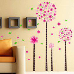 DIY Flower Removable Decorative Wall Stickers -