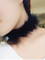 Fuzzy Faux Fur Choker Necklace