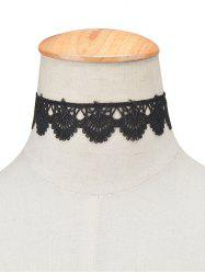 Vintage Scalloped Lace Choker Necklace