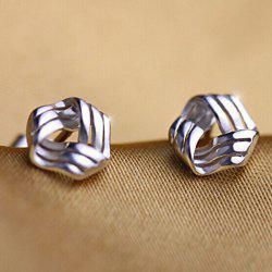 Geometric Hollow Out Stud Earrings