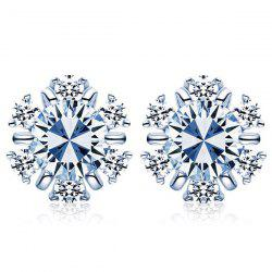 Snowflake Faux Diamond Stud Earrings