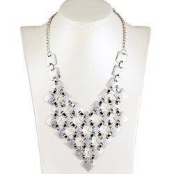 Tiered Frosted Square Metallic Necklace