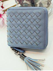 Zip Tassels Coin Purse - BLUE