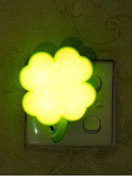 USB Clover Shape Sensor Room Bedside LED Night Light