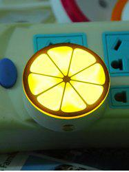 USB Lemon Shape Sensor Room Bedside LED Night Light