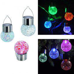 4PCS/Set Solar Power Courtyard Hanging Crack Bulb Light -