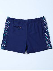 Sports Graphic Zip Printed Swim Bottom Boyshorts