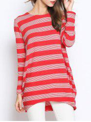 Casual Striped Oversized Knitwear
