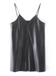 PU Leather Longline Tank Top