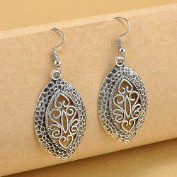 Heart Filigree Drop Earrings - SILVER