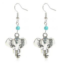 Artificial Turquoise Elephant Earrings