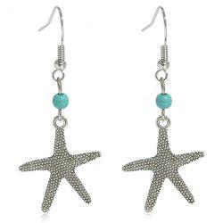 Artificial Turquoise Starfish Earrings