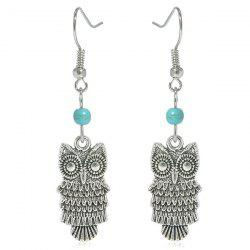 Artificial Turquoise Owl Earrings