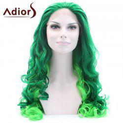 Adiors Long Shaggy Wavy Colormix Lace Front Synthetic Wig - COLORMIX
