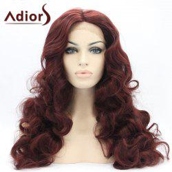 Adiors Long Centre Parting Towheaded Wavy Lace Front Synthetic Wig -