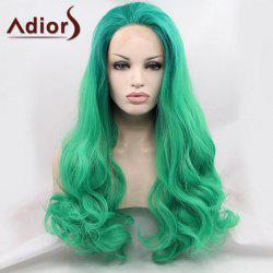 Adiors Long Towheaded Wavy Lace Front Synthetic Wig -