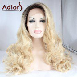 Adiors Long Color Mixed Side Parting Wavy Lace Front Synthetic Wig - COLORMIX
