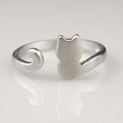 Cat Shape Cuff Ring
