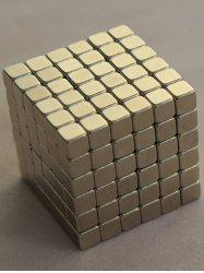 216PCS 3MM Square Magnetic Block Puzzle Educational Magic Cube - SILVER