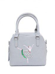 Zippers Sequined Rhinestones Tote Bag