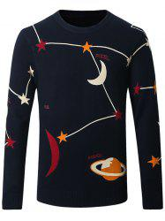 Thicken Star and Moon Pattern Sweater -