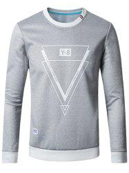 Crew Neck Inverted Triangle Flocking Sweatshirt