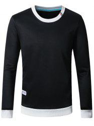 Plus Size Crew Neck Flocking Thicken Sweatshirt