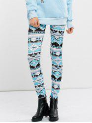 High Waist Stretchy Geometric Print Leggings