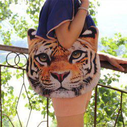 Animal Head Shaped 3D Print Shoulder Bag - TIGER PRINT