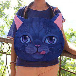 Cat Face Shaped 3D Print Shoulder Bag