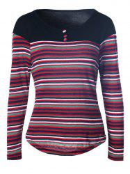 Multicolor Stripe Long Sleeve Tee
