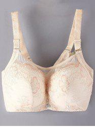 Plus Size Pendant Decorated Full Cup Bra