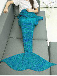 Keep Warm Crocheting Knitted Mermaid Blanket Throw