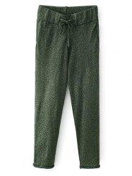 Shiny Thread Joggers Knit Pants