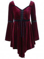 Velvet Asymmetrical Plus Size Flapper Dress