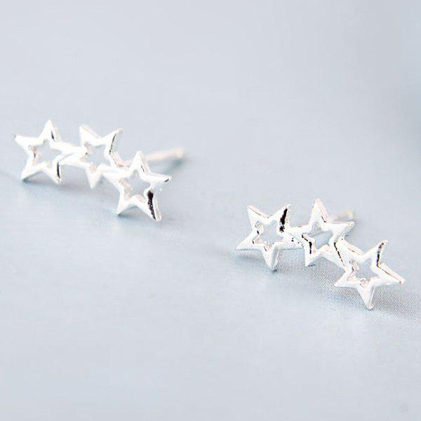 Star Hollow Out Stud EarringsJEWELRY<br><br>Color: SILVER; Earring Type: Stud Earrings; Gender: For Women; Metal Type: Alloy; Style: Trendy; Shape/Pattern: Star; Weight: 0.040kg; Package Contents: 1 x Earrings (Pair);
