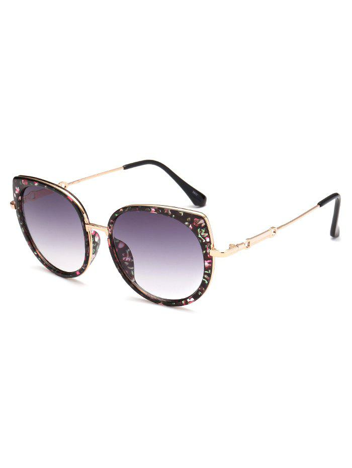 Shops Metal Full Rims Floral Cat Eye Sunglasses