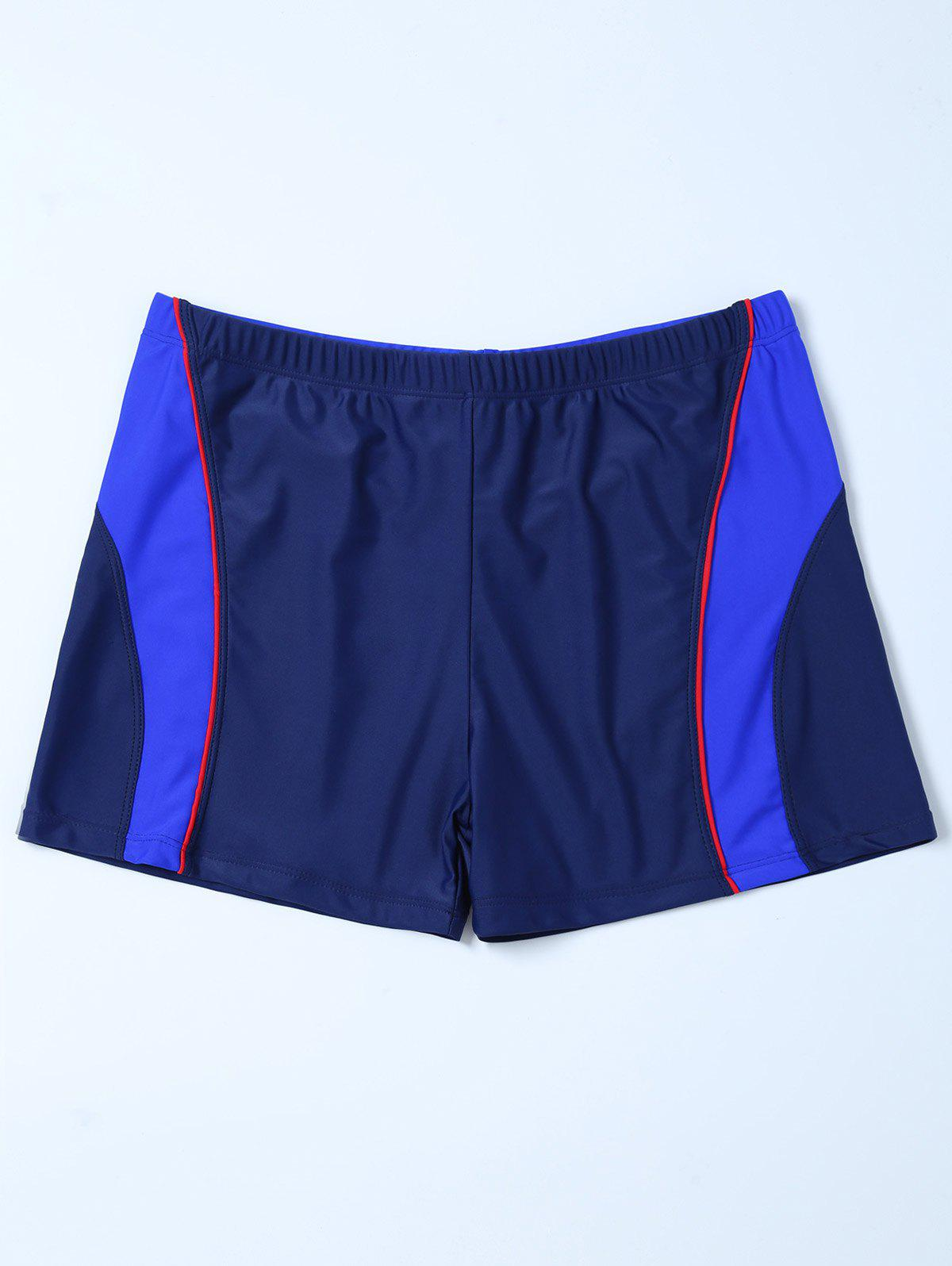 Discount Contrast Surf Swimsuit Bottom Boyshorts