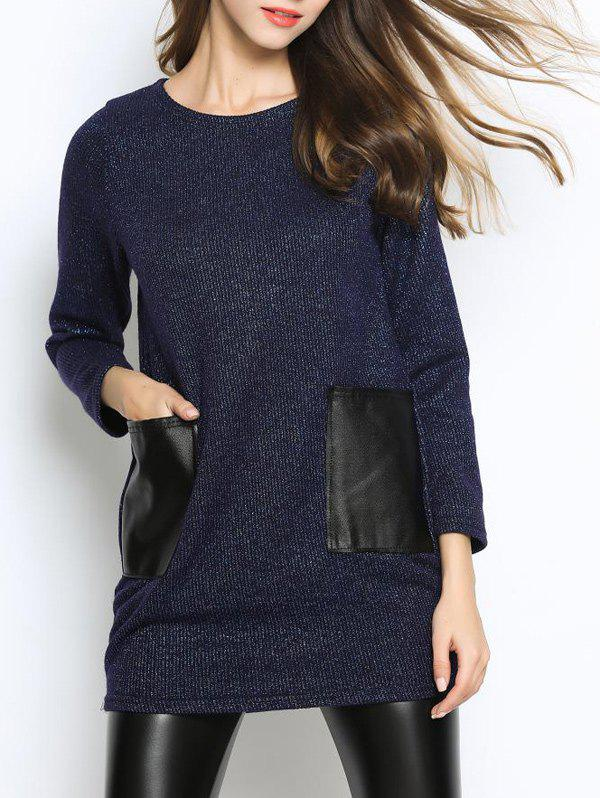 Pull casual long avec poches