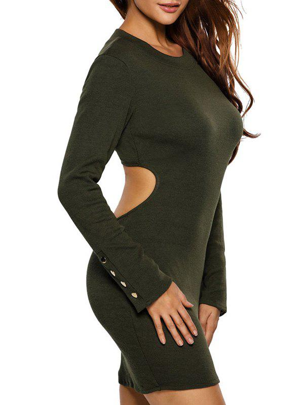 d413cac11a74 2019 Long Sleeve Cut Out Casual Jersey Bodycon Dress | Rosegal.com