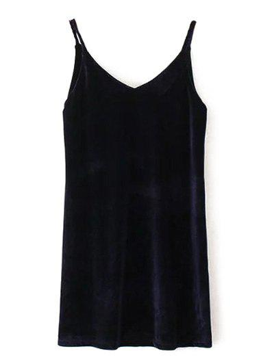 Latest Sleeveless Velvet Mini Dress