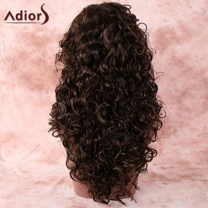 Stylish Deep Brown Long Curly Women's Synthetic Hair Wig - DEEP BROWN