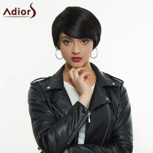 Adiors Short Silky Straight Inclined Bang High Temperature Fiber Wig