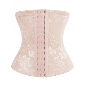 Embroidery Jacquard Waist Trainer Corset - Complexion - L