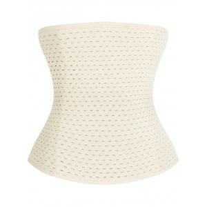 Breathable Waist Stomach Corset - OFF WHITE 3XL