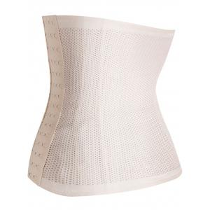 Stretchy Porous Shaperwear Corset - LIGHT BEIGE S