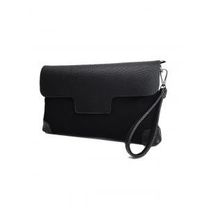 Embossing Magnetic Closure PU Leather Cluth Bag -