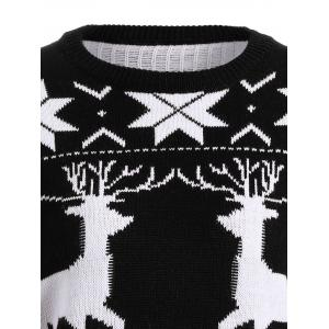 Fawn Snowflake Long Christmas Sweater -