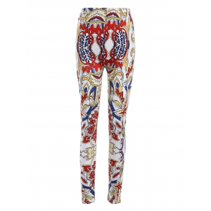 Plus Size Elastic Waist Tribe Print Leggings