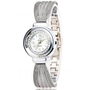 Rhinestone Beads Stainless Steel Bracelet Watch
